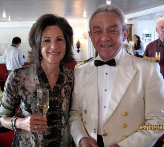 Susan and Lech at Captain's Dinner